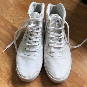 Size 6 Women's White High Top Vans Sneakers